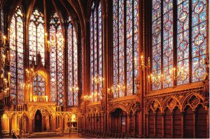 Interior of Ste Chapelle, Paris