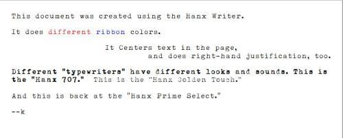 Hanx Writer Example